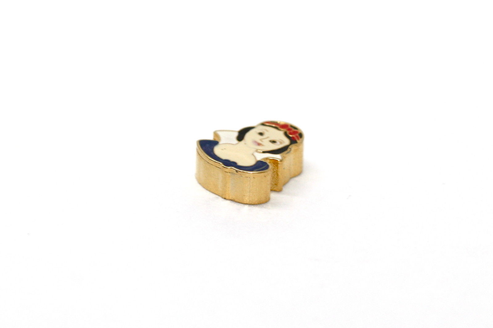 BRACCIALE DISNEY PRINCESS SNOW WHITE STAINLESS STEEL GOLD PLATED FLOATING CHARM