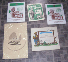 Smokey Bear Lot Vintage Advertising Character Premium - $19.99