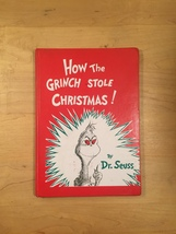"Vintage ""How the Grinch Stole Christmas"" red hardcover childrens book"