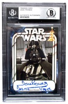 Dave Prowse Signed Slabbed Star Wars Darth Vader Trading Card Beckett BAS - $97.02