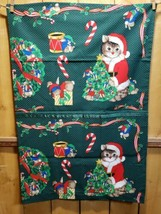 Hand Made Santa Kitty Claus Christmas 1 Standard 33x22 Pillow Case Cat ... - $8.11