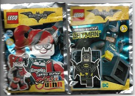Batman Minifigure & Harley Quinn Limited Edition Foil Pack - 2018 image 1