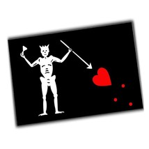 Automobile or Refrigerator 4x6 Inch Magnet Blackbeard the Pirate Flag De... - $5.94