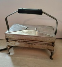 Antique 1930s Chrome Waffle Iron Mansfield Works - $53.22