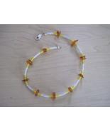 OOAK handmade amber chip bracelet anklet - $5.00