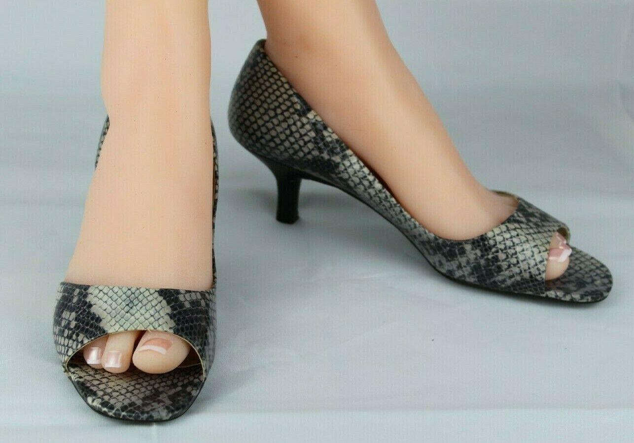 Franco Sarto L Dash Femmes M Talons Ouvert Orteil Animal Imprimé Chaussures 8.5M image 2
