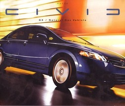 2007 Honda CIVIC GX CNG brochure catalog Natural Gas 07 US - $9.00