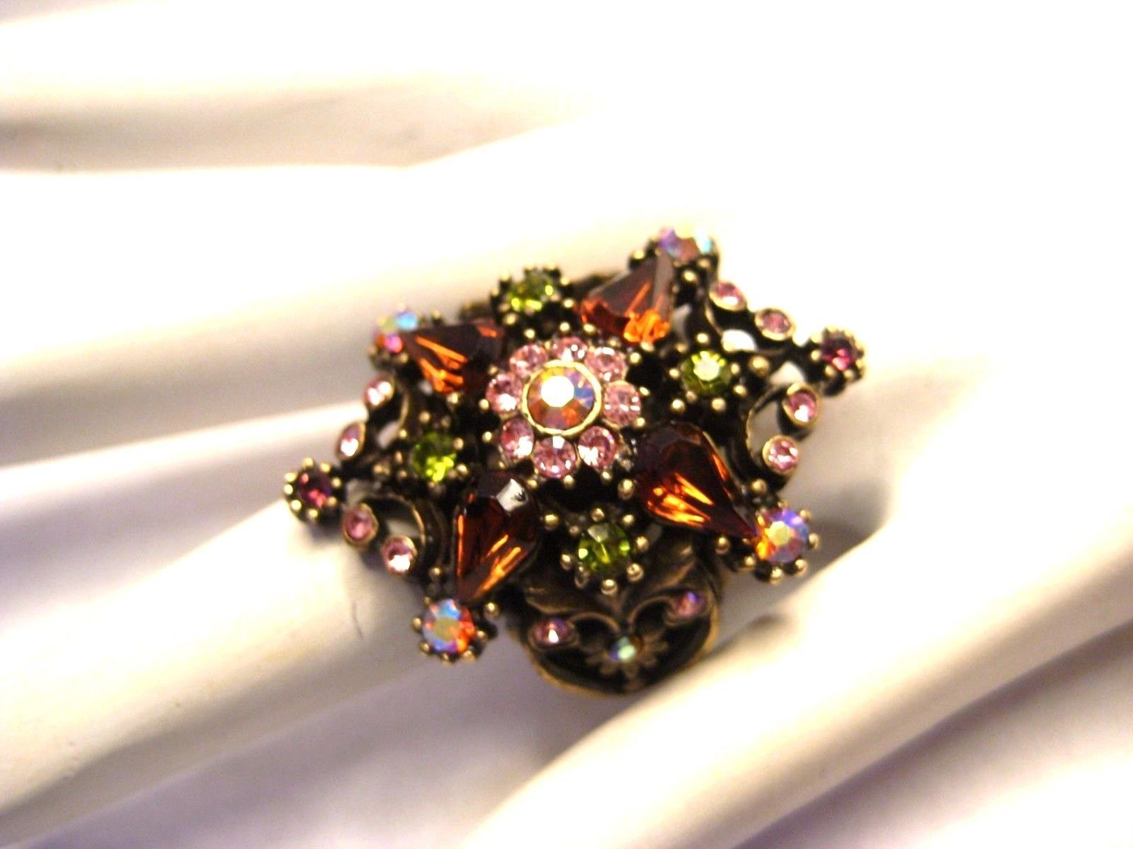 Primary image for Sweet Romance Swarovski Crystal Bling Ring Adjustable