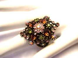 Sweet Romance Swarovski Crystal Bling Ring Adjustable  - $58.50