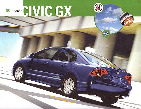 Primary image for 2006 Honda CIVIC GX CNG sales brochure sheet Natural Gas 06 US
