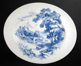 "ANTIQUE WEDGWOOD COUNTRYSIDE BLUE TRANSFERWARE 12"" OVAL SERVING PLATTER ... - $38.69"