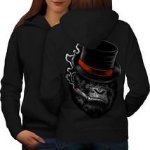 Gorilla Mafia Smoke Sweatshirt Hoody Ape Cigar Women Hoodie Back - $21.99+