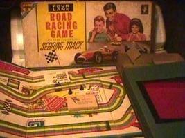 1963 Transogram Four Lane Racing Game Sebring Track - $45.00
