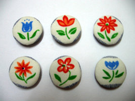 Fabric Buttons - Floral Print Set Of 50  - $20.00