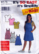 1998 JUMPER & KNIT TOP Pattern 8175-s Girl Size 7,8,10,12,14,16 - $9.99