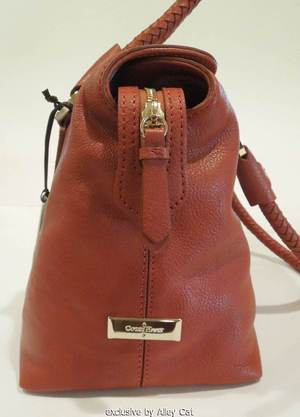 COLE HAAN SMALL BOX SATCHEL PICANTE RUST BROWN NEW W TAG