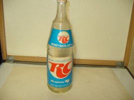 RARE ROYAL CROWN COLA RC SODA BOTTLE 28 OZ PAPER LABEL RETURN FOR DEPOSI... - $8.79