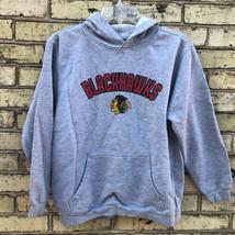 Reebok Youth 14/16 Gray Heather Chicago Blackhawks NHL Hoodie  Sweatshirt - $16.46