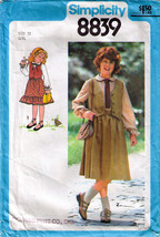 1978 BLOUSE-SKIRT-VEST Pattern 8839-s Girl Size 12 - $9.99