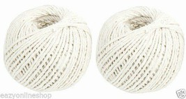 2 x 40m BALLS OF STRING COTTON TWIN Ball CRAFT STRING 80m TOTAL - $3.73