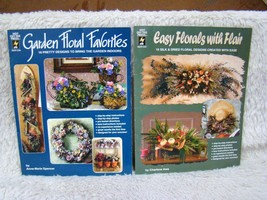 Lot of 2 Hot Off the Press Bks, Garden Floral Favorites/Easy Florals w/ ... - $5.93