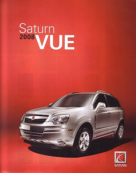 Primary image for 2008 Saturn VUE sales brochure catalog 08 US HYBRID RED LINE