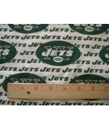 """NEW YORK NY JETS NFL COTTON FABRIC 1/4 YARD X 58"""" for Mask + FREE SHIP N... - $24.99"""