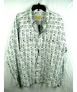 Scully Western Shirt Size L White Skulls Rockabilly Long Sleeve - Square... - $48.46