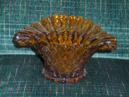 Amber Fluted Edge Candy Relish Dish - €9,60 EUR