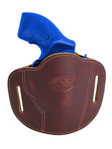 "New Barsony Burgundy Leather Pancake Slide Holster for Snub Nose 2"" Revolvers - $34.99"