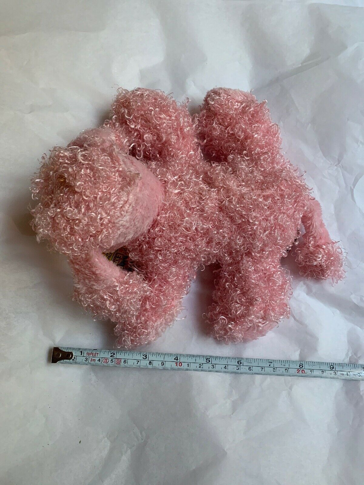 "7"" Ganz Webkinz Pink Poodle HM107 Plush Stuffed Animal W Used CODE Clean Cond image 4"