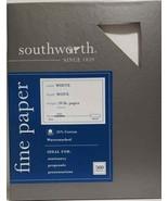 Southworth Fine Business Paper, 20.05 Cotton, 20 lb , White,500 Sheets - $24.30