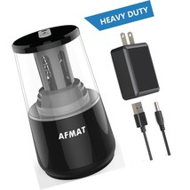 AFMAT Electric Pencil Sharpener, Heavy Duty Helical Blade Sharpeners, Au... - $26.34