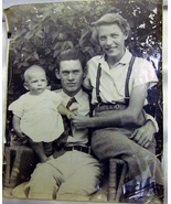 1940s Black and White Family Photo Baby Collectible - $3.00