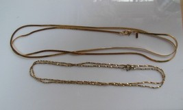 Vintage Monet Gold-tone Chain Necklaces (2) - $24.75