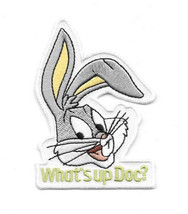 Looney Tunes Bugs Bunny Head Saying What's up Doc? Embroidered Patch, NE... - $7.84