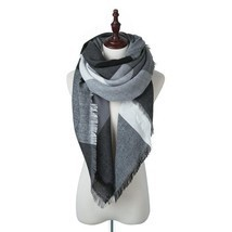 Women Plaid Winter Scarves Square Scarf Cashmere Warm Female Scarves And... - $74.03 CAD