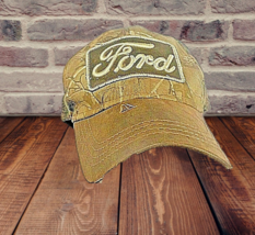 FORD Logo  Distressed Camouflage Stretch Fit Hunting Hat Cap L-XL - $11.19