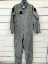US AIR FORCE NOMEX FIRE RESISTANT FLIGHT SUIT GREEN CWU-27/P - 42L - $29.70