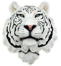 White Tiger Head Mount Wall Statue Bust - $60.00