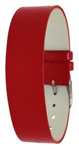 Moog Paris Full Grain Red Calf Leather Bracelet for Women, Pin Clasp, 18... - $46.65