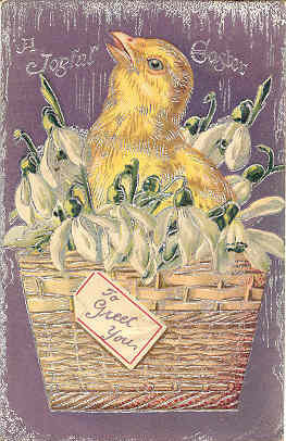 To Greet You at Easter 1908 Tucks and Son Vintage Post Card