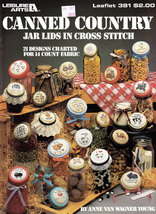 Cross Stitch Canned Country Jar Lids - $3.95