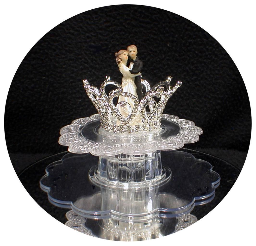 crystal bride and groom wedding cake toppers princess crown wedding cale topper fairytale rhinestone 13104
