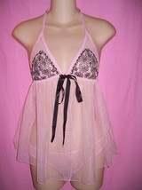 Victoria's Secret Gorgeous Halter Babydoll with Cup Embroidery & Bikini ... - $29.99