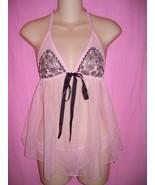 Victoria's Secret Gorgeous Halter Babydoll with... - $29.99