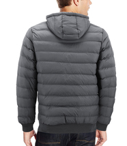 Men's Sherpa Lined Lightweight Hooded Zipper Insulated Quilted Puffer Jacket image 7