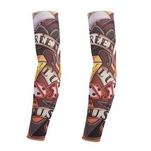 PANDA SUPERSTORE 1-Pair Cool Tattoo Sun Sleeves Body Art Arm Stockings for Outdo