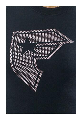 Famous Stars & Straps Black Pink Studs Lucky BOH Juniors Tee Size: Medium
