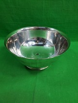Vintage Silverplated Pedestal Bowl ~9 Inches Diameter - $21.73